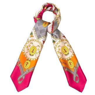 Silk Scarf Mila Schon Jewelry Pink