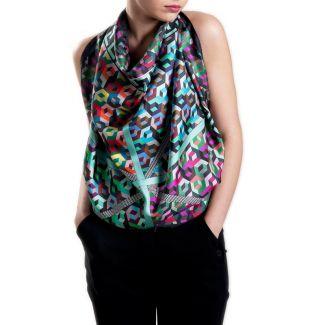 RR Vasareli black silk scarf