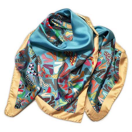RR Shoes blue silk scarf