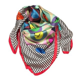 RR Raviolli Red silk scarf