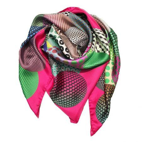 RR Palline Pink silk scarf