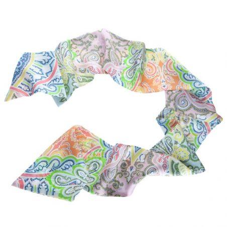 Eşarfă mătase naturală Paisley Multicolor