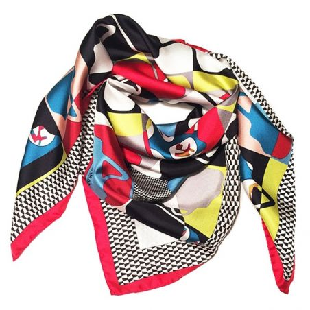 RR Boresette Red silk scarf