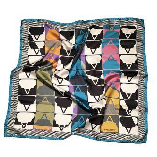 RR Boresette Blue silk scarf
