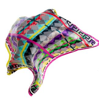 Esarfa matase RR Argyle Multicolored