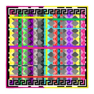 RR Argyle Multicolored silk scarf
