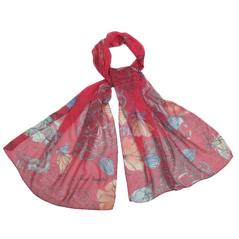 Silk shawl georgette Laura Biagiotti Tokio springred