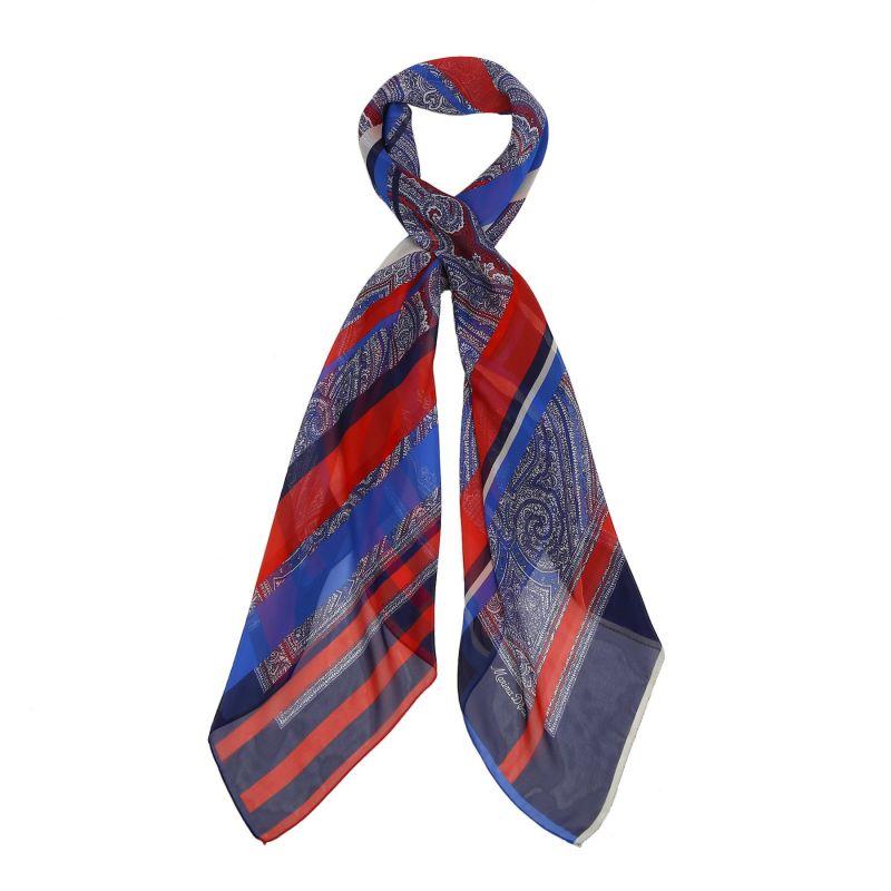 Summer mood blue georgette silk scarf