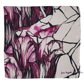 Au bord de la mer bordeaux silk scarf