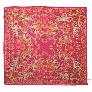 Caspian sunset coral silk scarf