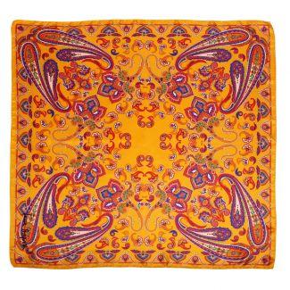 Caspian sunset saffron silk scarf