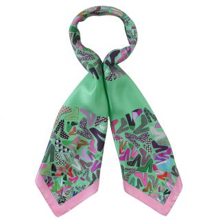 RR Shoes green silk scarf