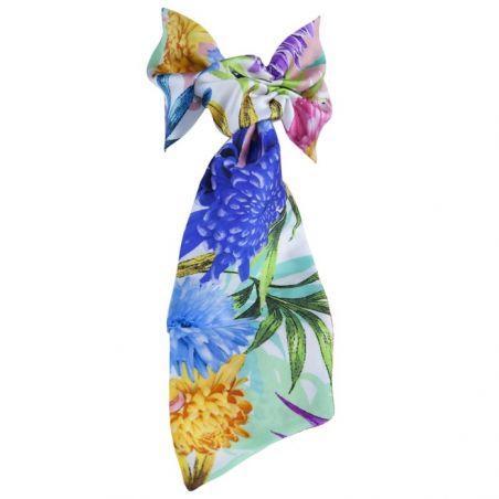 CADOU: Set eşarfă cu volan cu bentiţă mătase naturală