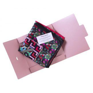 RR 70 Palline Pink silk scarf