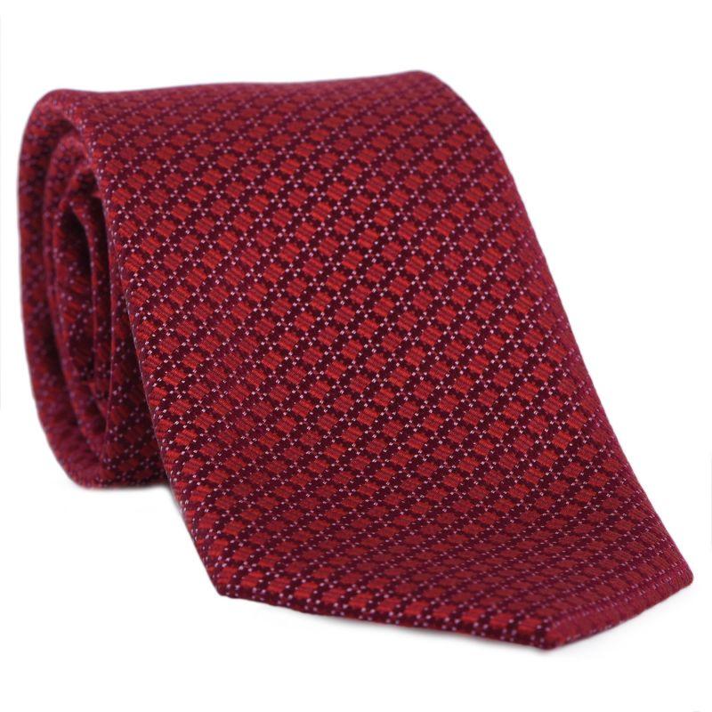 L. Biagiotti silk tiePrato terra red