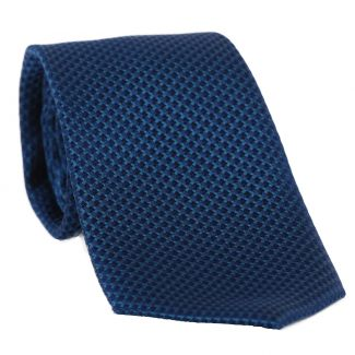 L. Biagiotti silk tie Turin petrol blue