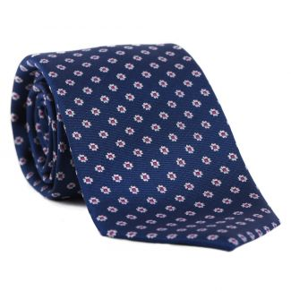 L. Biagiotti silk tie Naples white flowers