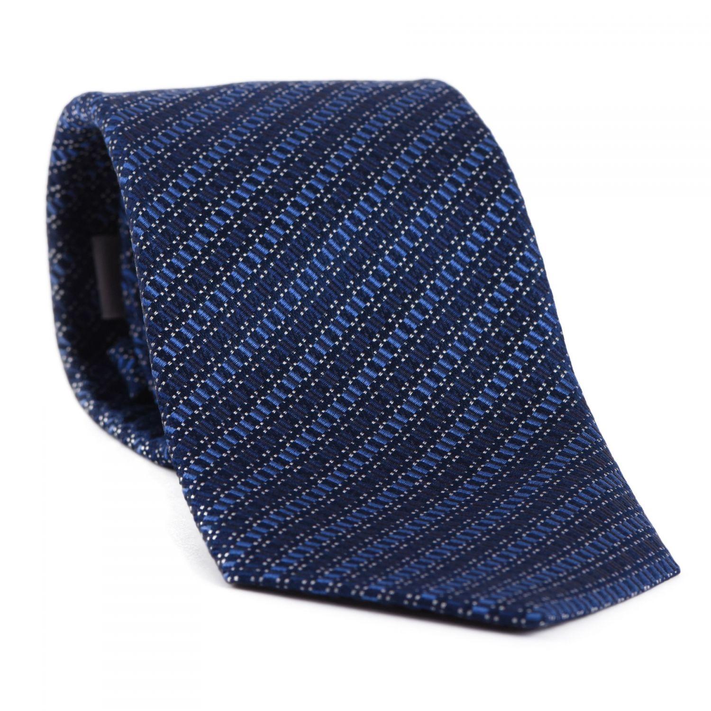 L. Biagiotti silk tie Prato blue