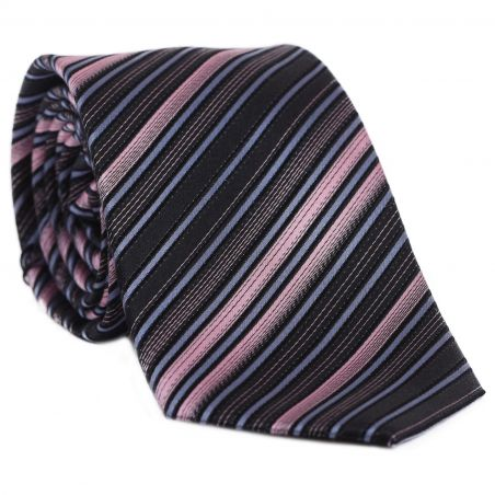 L. Biagiotti silk tie Mantova Spectrum Pink stripes