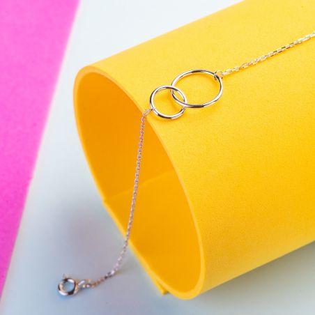 Zirconia Until the Moon & Back silver bracelet