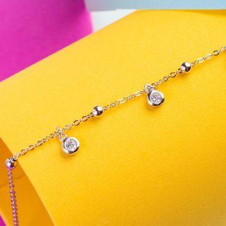 Zirconia Memories silver bracelet