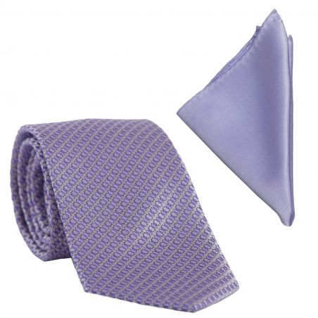 Cadou: Cravata L. Biagiotti Prato mauve si Batista matase lila