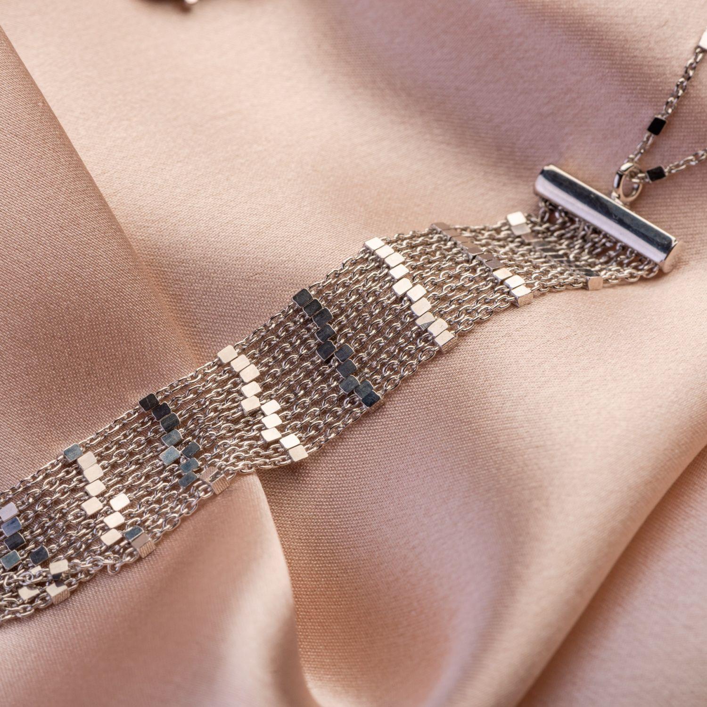 Silver necklace Sparkling Rain