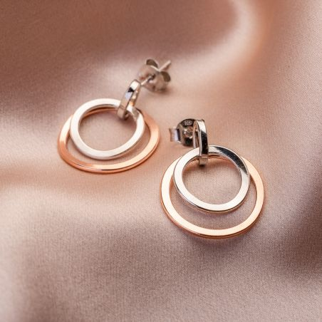 Orbital Galaxy silver earrings