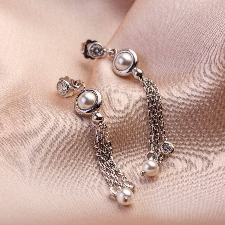 Cercei argint Cocktail Pearls