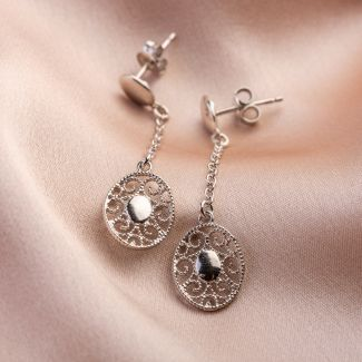 Moments silver earrings