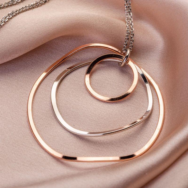 Silver necklace Orbital Galaxy