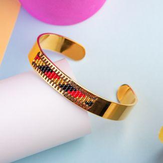 Miyuki Red Stainless steel bracelet
