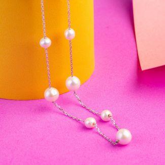 Colier argint perle de cultura Armony