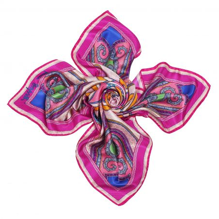 Imperial dream fucsia Silk scarf