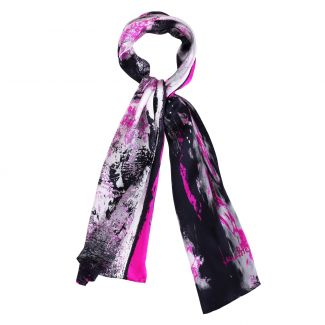 Silk shawl Laura Biagiotti Street Fashion black