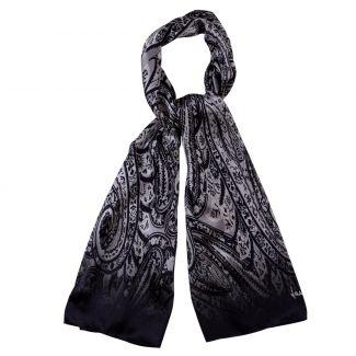 Silk shawl Laura Biagiotti Paisley Black