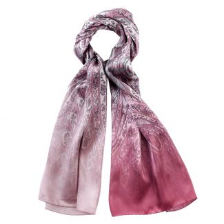 Silk shawl Laura Biagiotti Paisley Dusty Pink