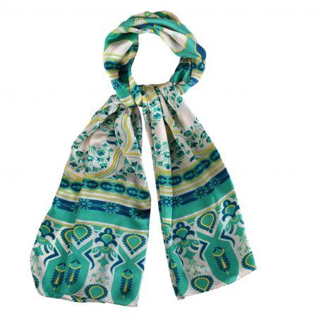 Silk shawl Laura Biagiotti Moroccan Bazaar turcoise
