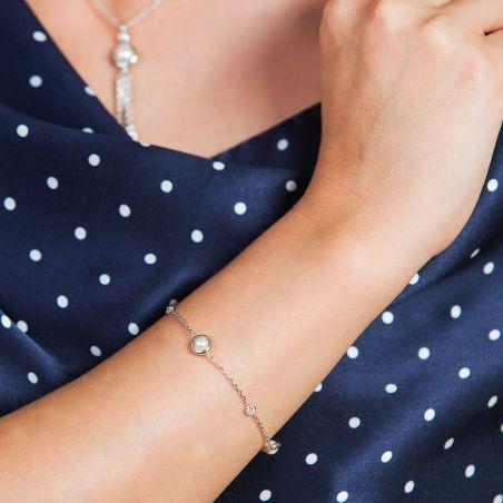 Bratara argint Cocktail Pearls