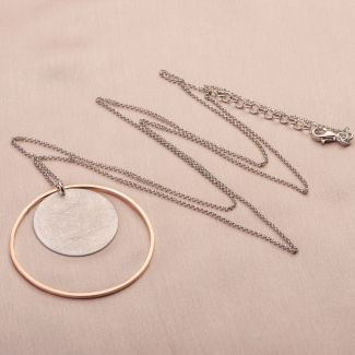 Gift: Silver necklace and earrings Dream Big