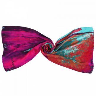 Gift: Silk shawl Laura Biagiotti Street Fashion fucsia and Silver necklace Easy Way