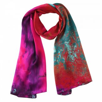 Gift: Silk shawl Laura Biagiotti Street Fashion fucsia and Silver necklace Easy Way