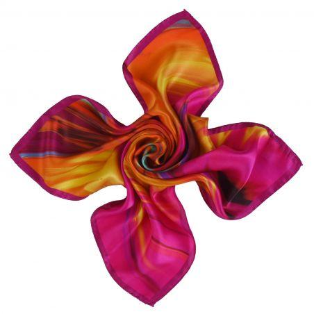 Color Storm fuchsia silk scarf