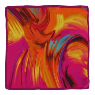 Color Storm fuchsia silk scarf