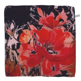 Sweet Touch red silk scarf
