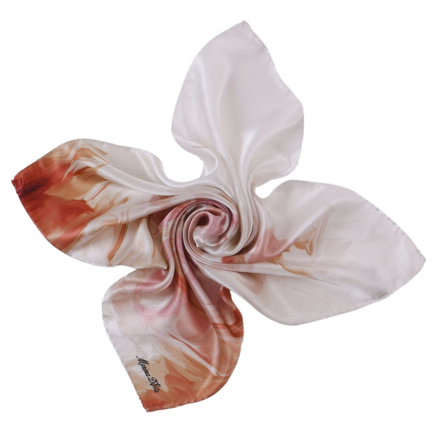 Sweet Touch nude silk scarf