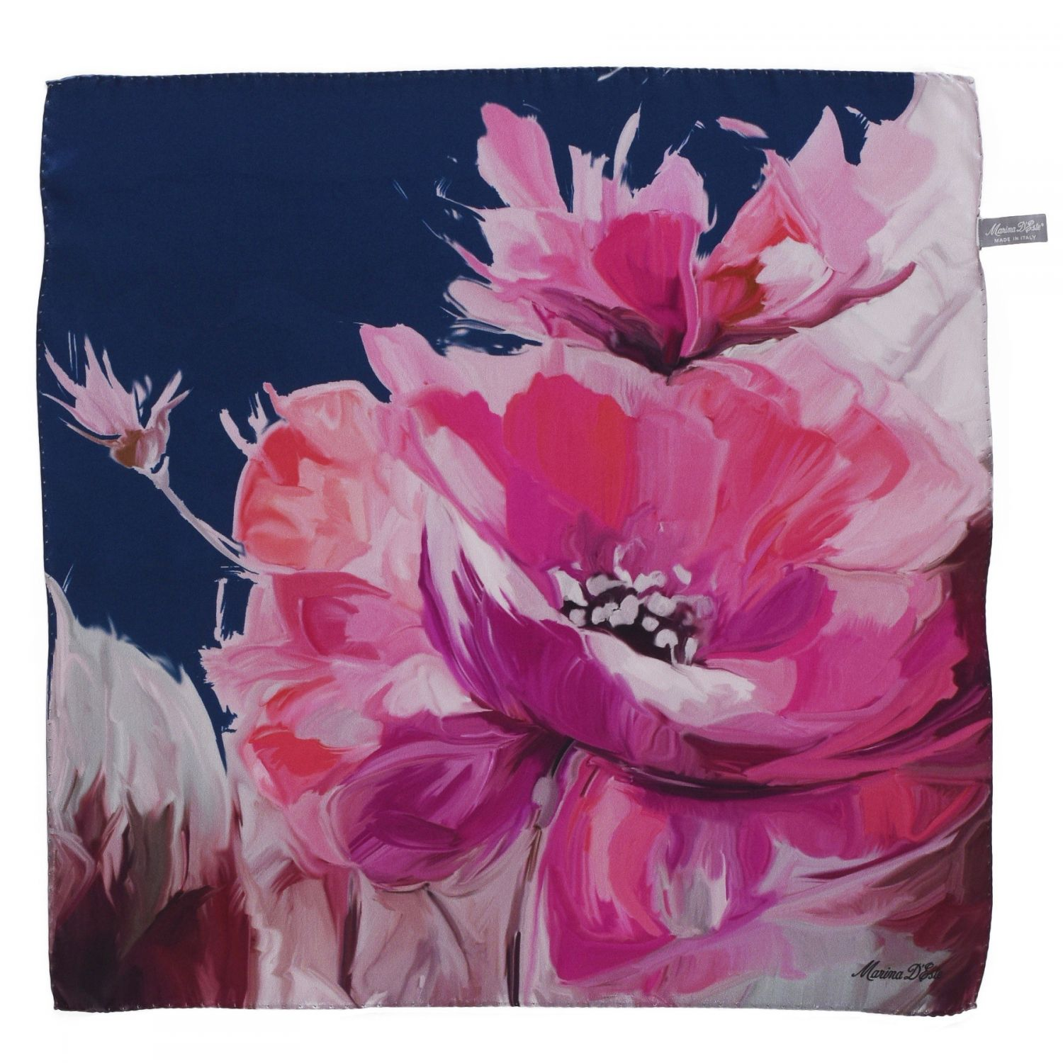 Sweet Touch rose silk scarf
