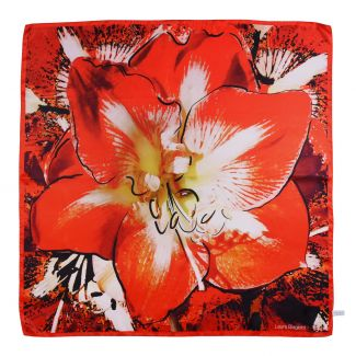 Orchid Passion red silk scarf