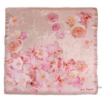 Falling Roses nude rose silk scarf