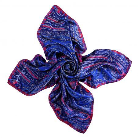 I love paisley lapis blue silk scarf